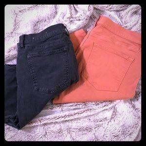 LOFT Ann Taylor SKINNY Crop & Modern Fit Jeans